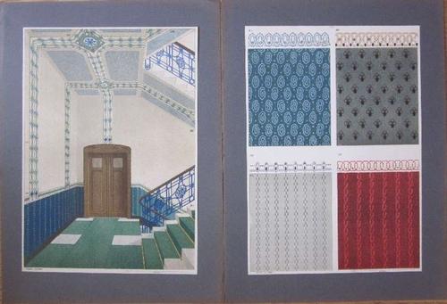 Bremer Skizzen-Mappe. Serie III. Die Anwendung der Kristallsteine u. Mosaiken im gemalten Ornament herausgegeben von Gustav Klinzmann, Bremen.